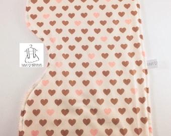 Shoulder towel - little hearts