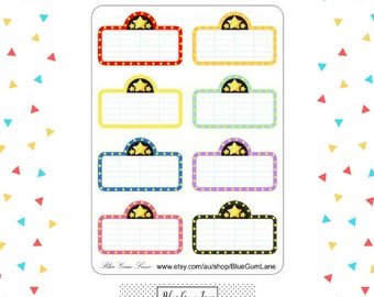 Planner Stickers - Gloss - Movie Marquee - will fit Erin Condren Life Planner Vertical boxes