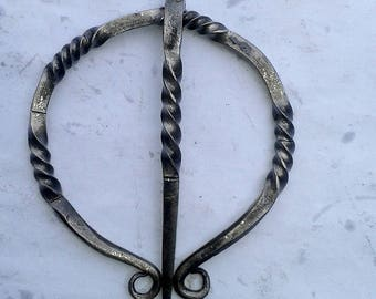 Hand Forged twisted viking replica clasp