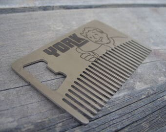 personalised -Beard Comb & Bottle Opener