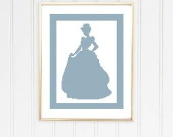Cinderella cross chart/princess cross stitch/princess cross chart/disney cross chart/Cinderella cross stitch/ #01-012