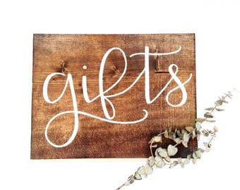 Gifts sign | wedding gifts sign, rustic wedding decor, rustic wedding signs, rustic wood signs, wood gifts sign, gifts sign wood