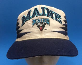 Vintage maine black bears snapback spike hat adjustable logo atlethic
