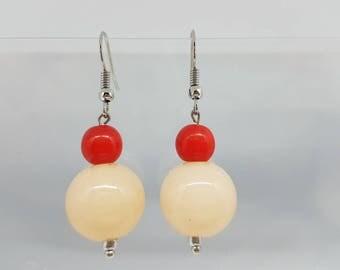 Earrings - unique - pair of balls