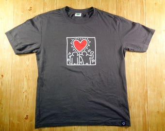 20% OFF Vintage Keith Haring 90s Love Art Design Big Logo Shirt