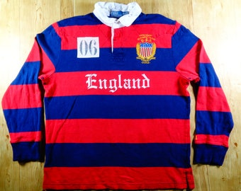 Vintage POLO Ralph Lauren USA Olympic Team Official Outfitter Rugby Style Jersey