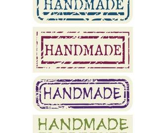 "40 PCS ""HandMade"" Sticker, Seals, Scrapbooking, Scrapbook Supplies, Stationary, Paper, Paper Stickers, Stickers"