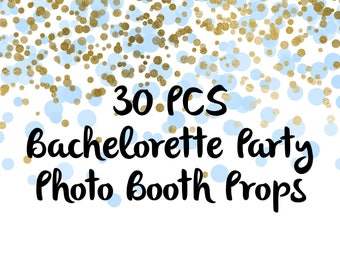 30PCS Bachelorette Photo Booth Props, Party Props, Photo Booth Props, Party Supplies, Party Decor, Party, Photo props, Bachelorette Party