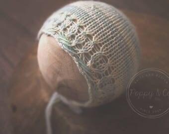 Marrakesh Newborn Bonnet, Newborn Bonnet Knit Photography Prop Knitting Pattern, Newborn Prop Bonnet Knitting Pattern, Baby bonnet Knit