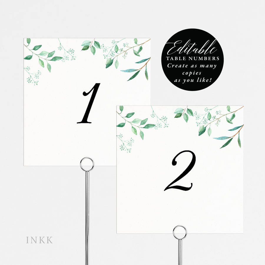 printable table number tent cards. Black Bedroom Furniture Sets. Home Design Ideas