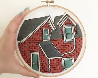 Bed + Breakfast Hand Embroidery Wall Art 6""