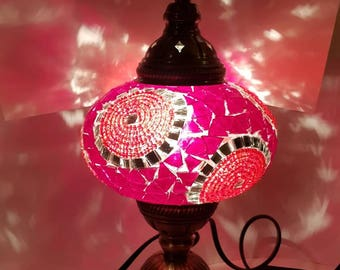Bronze Mosaic Lamp - Turkish Lamp