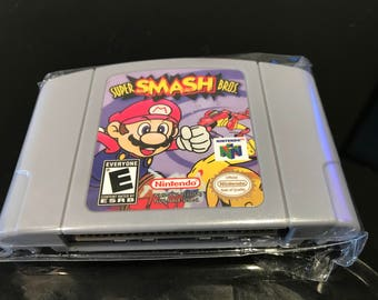 Super Smash Bros N64 Nintendo USA Seller USPS First Class Shipping