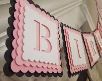 3D Happy Birthday banner