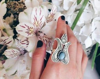 Adjustable Flower Shape Ring