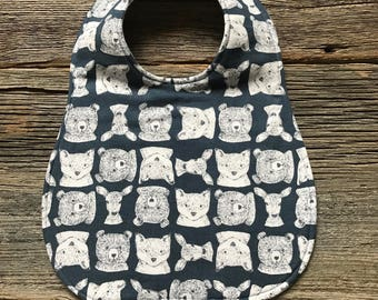 Woodland Bib, Baby Bib, Toddler Bib, Thick Bib, Bib, Food Bib