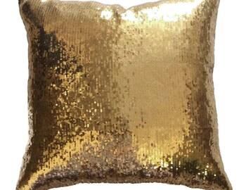 Sequin Pillow Cover, Gold sequin pillow, Gold Decorative pillow, Gold Throw pillow, Pillow cover, Gold christmas pillow,Pillow cushion,20x20