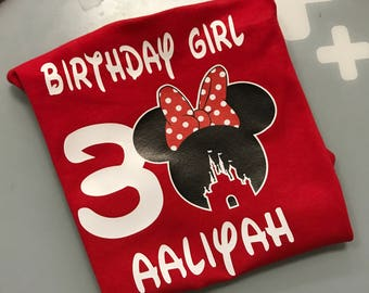 Disney Custom Birthday Age Tshirt