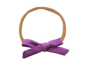 Schoolgirl Bow or Pigtail Set /// Berry