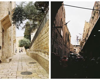 Israel - Set of two 35mm film photographs // 6x4 inches (as seen in April's analog blog)