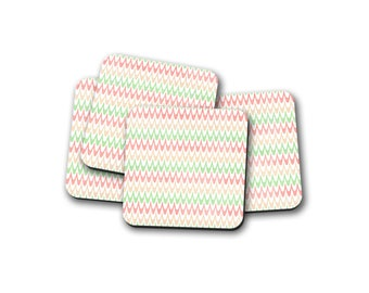 Pastel Waves Coaster.  Pack of 4 coasters.