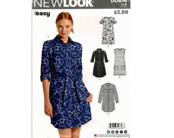 New Look D0616 - Shirt Dress with Variations