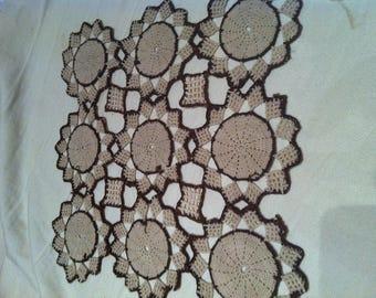 Naperon square crochet