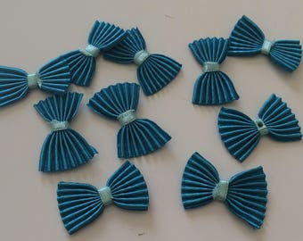 Bow tie pleated 3 * 2 cm Color Turquoise