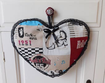 heart lingerie bag or pantyhose vintage