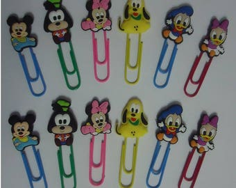 Disney Babies Paper Clips Mickey Minnie Goofy Pluto Daisy Donald Duck Stocking Stuffer Kids Xmas Gifts Office Accessories 12 Paper Clips
