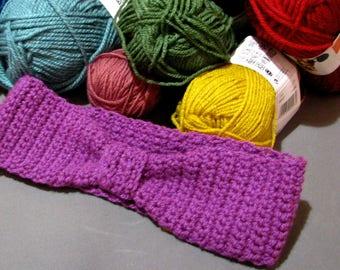 HANDMADE wool earmuffs mauve range