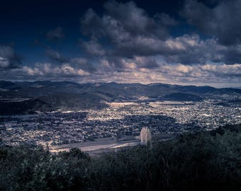 Storm Clouds Over The Valley - Instant Digital Download - Landscape Photography
