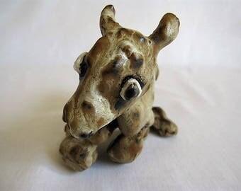 Newborn Calf/Small Ceramic Calf/Calf Sculpture