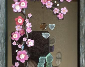 Glass handmade wall art