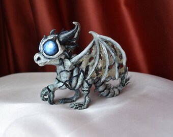 Sindragosa figurine handmade from polymer clay Wow World of Warcraft Dragon