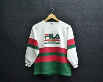 Fila Sweatshirt Youth Size 140 Fila Vintage 90's Fila Vintage Multicolor Pullover Crewneck Sweatshirt Size Youth 140