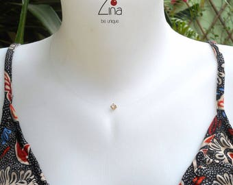 Necklace magical zircon - 925 sterling silver