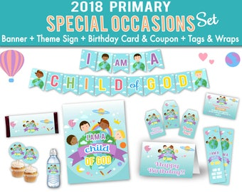 Primary LDS 2018 Special Occasions Set Kit Printable I am a child of God Sharing Time Digital Print Instant Download Printable