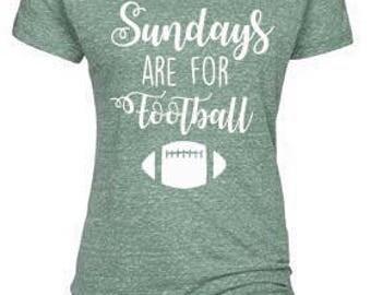 Sundays Are For Football Tee Shirt, Plus Size tees, Football Mom Shirt, football tee, game day tee, superbowl shirt, fall ball