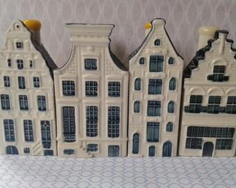 KLM, cottages, nr. 53, 63, 65, 96, Delft blue, Baker KLMHouses, Delft blue, Delft Blue Dutch Houses, KLM, KLM Delft blue houses
