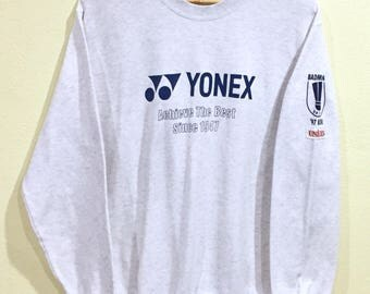 Rare!!! Vintage Yonex Sweatshirt Yonex Badminton 97 Sportwear Pullover Jumper Sweater Paches