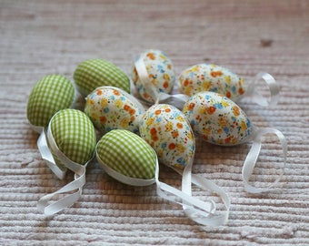 Easter tree eggs ornament. Home Easter decoration.