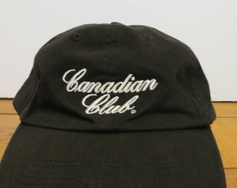 Canadian Club Cap Hat Black Strapback Rogers Sports Canada Rye Whisky