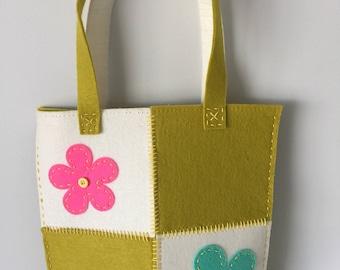 Vintage hand made felt bag 1980's, 80's