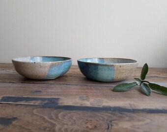 Set of two coastline bowls