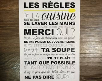 Poster - kitchen rules