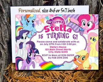 My Little Pony Invitation / My Little Pony Birthday Invitation / Little Pony Party / Little Pony Invite / Little Pony Birthday / Little Pony