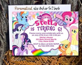 My little pony invitation Etsy