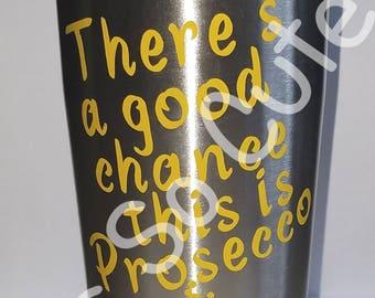 Prosecco travel mug