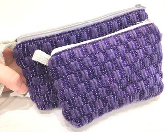 Purple Wristlet and Key Chain Coin Purse